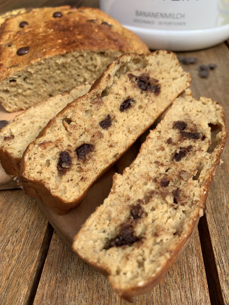 Healthy Chocolate Chip Bananabread | Gesunder Bananenkuchen