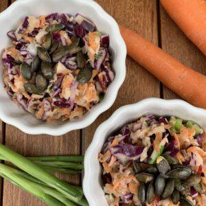 Rotkohl-Karotten-Apfel Salat   Mein Lieblingssalat